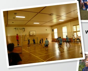 Volleyballturnier in der Turnhalle